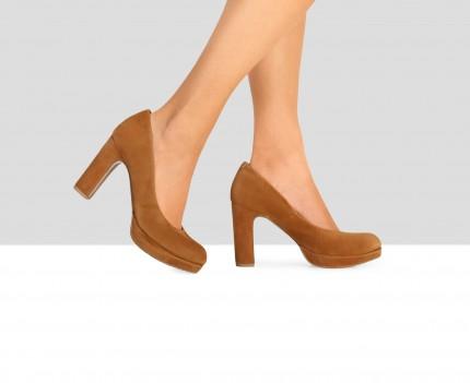 High heel woman leather...