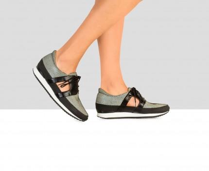 Sneaker de mujer en piel...