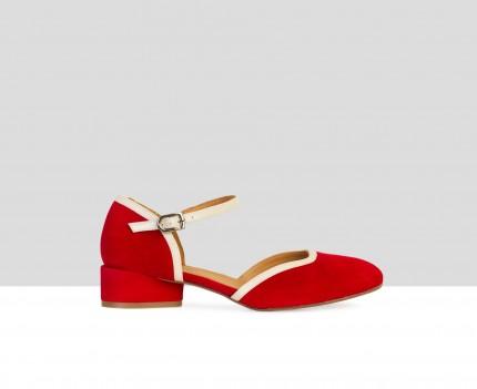 Low heel woman leather...