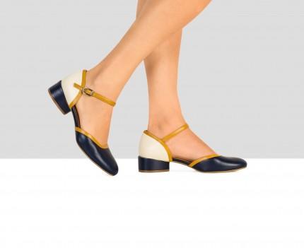Zapato de mujer en piel con...