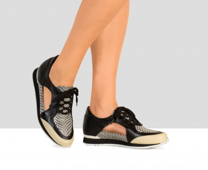 Sneaker da donna in pelle...