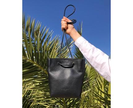 Elena Black leather bag