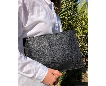 Sara Black leather bag