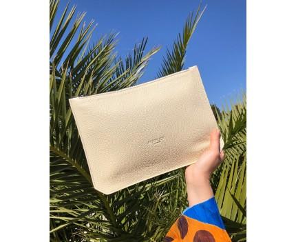 Sara Bone leather bag